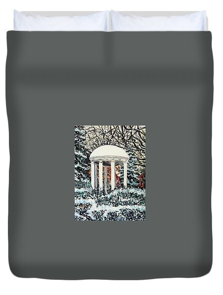 Old Well Winter Duvet Cover