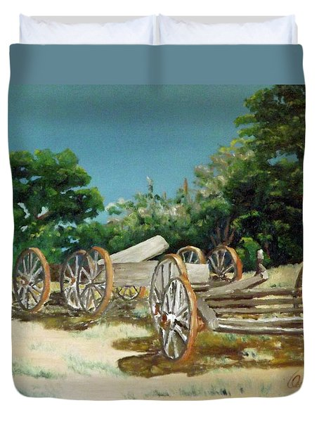Old Wheels Duvet Cover