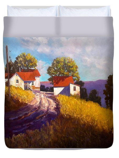 Old Willy's Barn Duvet Cover