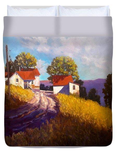 Old Willy's Barn Duvet Cover