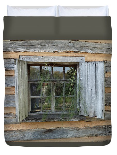 Old Window Duvet Cover
