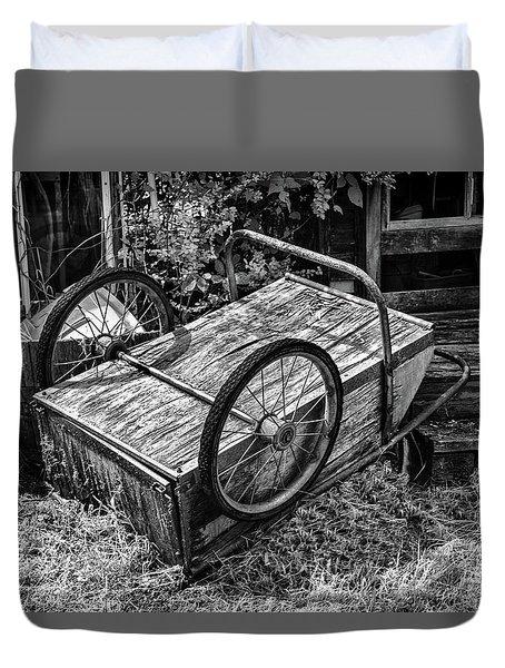 Old Wood Cart Duvet Cover