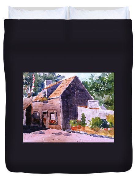 Old Wooden School House Duvet Cover