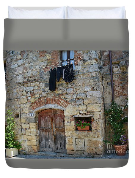 Old World Door Duvet Cover