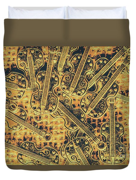 Old-world Musical Composition Duvet Cover