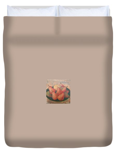 Old World Pears Duvet Cover
