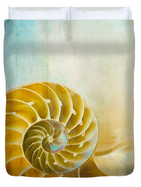 Old World Treasures - Nautilus Duvet Cover by Colleen Kammerer