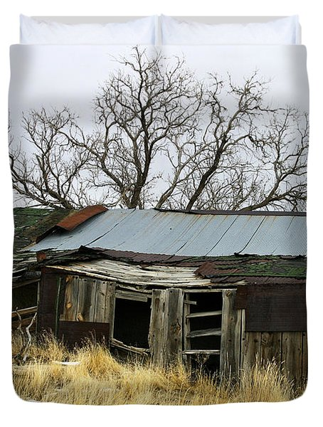 Old Wyoming Farmhouse Duvet Cover