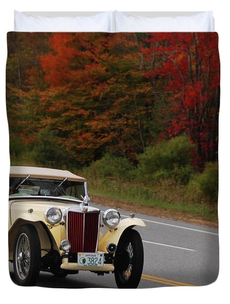 Duvet Cover featuring the photograph Old Yeller 8168 by Guy Whiteley
