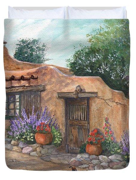 Old Adobe Cottage Duvet Cover
