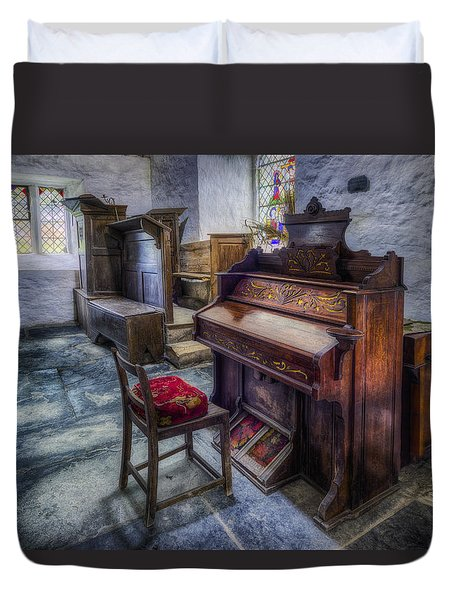 Olde Church Organ Duvet Cover