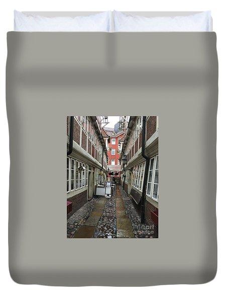 Krameramtsstuben The Oldest Street In Hamburg Germany Duvet Cover