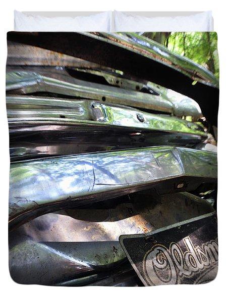 Oldsmobile Bumper Detail Duvet Cover