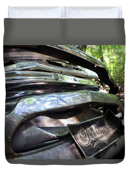 Oldsmobile Bumper Detail Duvet Cover