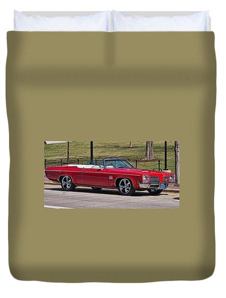 Oldsmobile Delta Royale 88 Red Convertible Duvet Cover