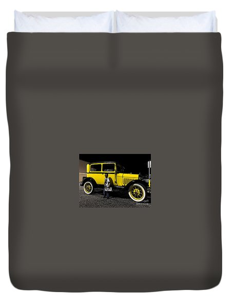 Duvet Cover featuring the photograph Ole Yalla - No.1928 by Joe Finney