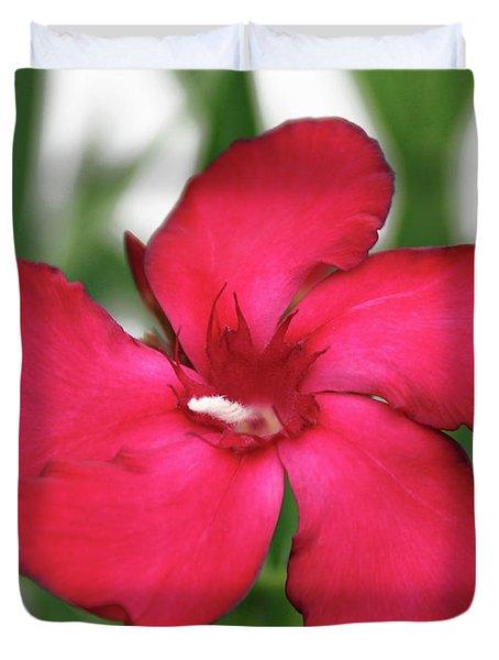 Oleander Blood-red Velvet 1 Duvet Cover