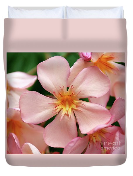 Duvet Cover featuring the photograph Oleander Dr. Ragioneri 1 by Wilhelm Hufnagl