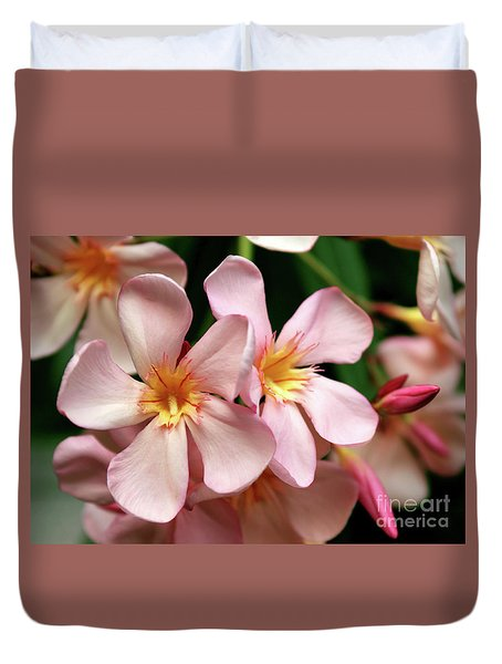 Duvet Cover featuring the photograph Oleander Dr. Ragioneri 2 by Wilhelm Hufnagl