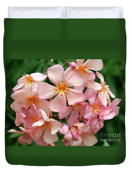 Duvet Cover featuring the photograph Oleander Dr. Ragioneri 3 by Wilhelm Hufnagl