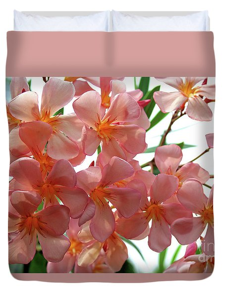 Duvet Cover featuring the photograph Oleander Dr. Ragioneri 4 by Wilhelm Hufnagl