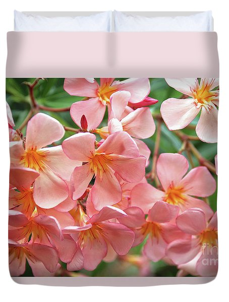Duvet Cover featuring the photograph Oleander Dr. Ragioneri 5 by Wilhelm Hufnagl