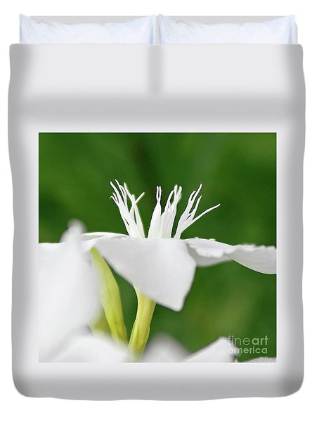 Duvet Cover featuring the photograph Oleander Ed Barr 2 by Wilhelm Hufnagl