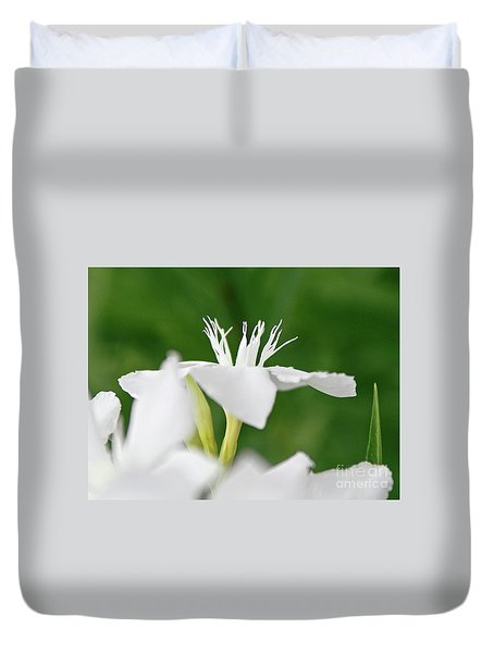 Duvet Cover featuring the photograph Oleander Ed Barr 1 by Wilhelm Hufnagl
