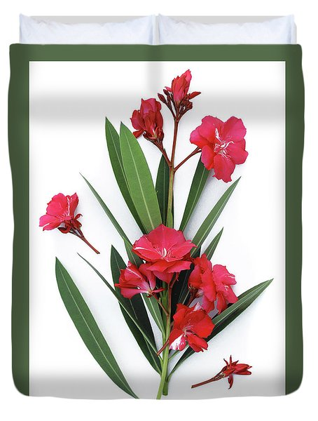 Duvet Cover featuring the photograph Oleander Geant Des Batailles 2 by Wilhelm Hufnagl