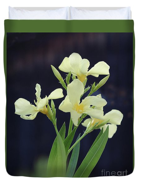 Duvet Cover featuring the photograph Oleander Marie Gambetta 2 by Wilhelm Hufnagl