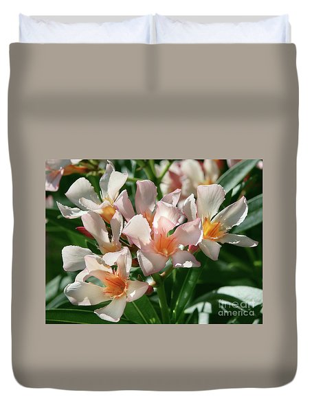 Oleander Petite Salmon 1 Duvet Cover