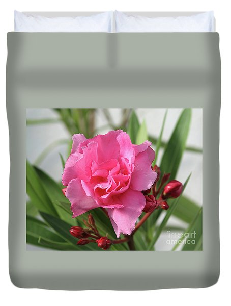 Duvet Cover featuring the photograph Oleander Splendens Giganteum 1 by Wilhelm Hufnagl