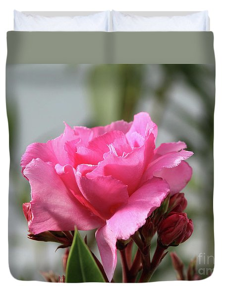 Duvet Cover featuring the photograph Oleander Splendens Giganteum 2 by Wilhelm Hufnagl