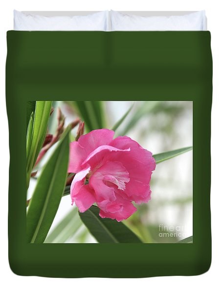 Duvet Cover featuring the photograph Oleander Splendens Giganteum 3 by Wilhelm Hufnagl