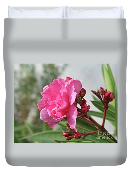 Duvet Cover featuring the photograph Oleander Splendens Giganteum 4 by Wilhelm Hufnagl