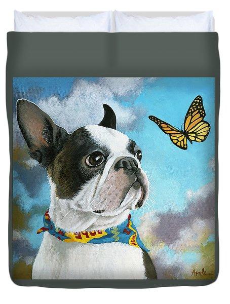 Oliver - Dog Pet Portrait Duvet Cover