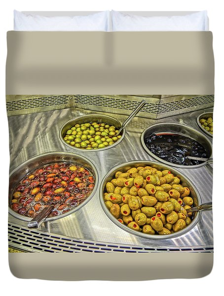 Olives Duvet Cover by Bruce Iorio