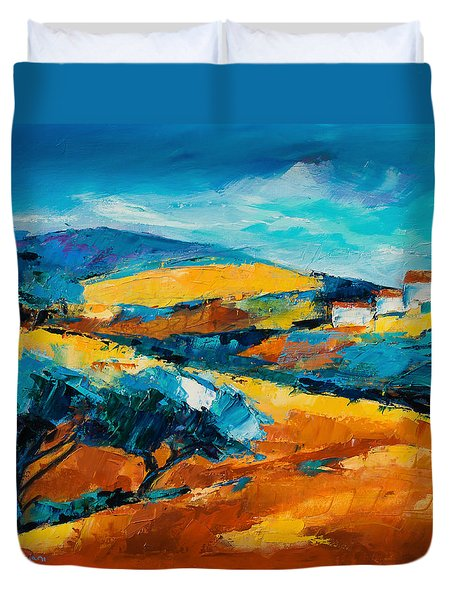 Oliviers En Provence Duvet Cover