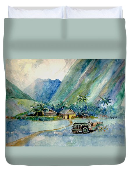 Olowalu Valley Duvet Cover by Ray Agius