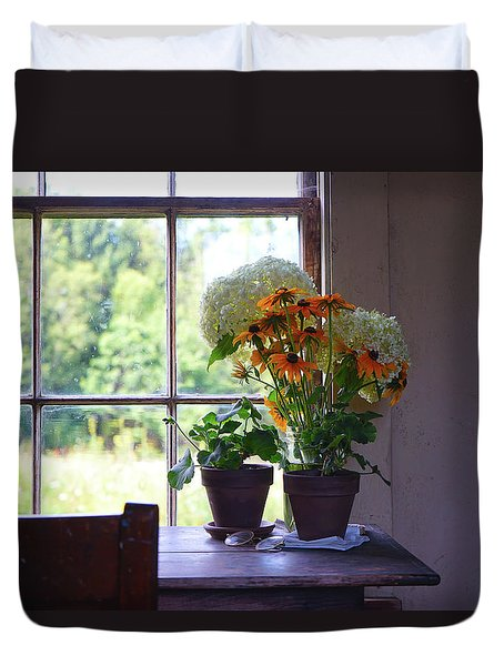 Olson House Flowers On Table Duvet Cover
