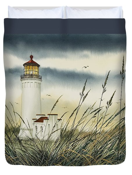 Olympic Coast Sentinel Duvet Cover by James Williamson
