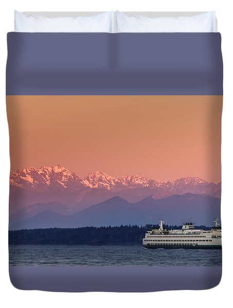 Duvet Cover featuring the photograph Olympic Journey by Dan Mihai
