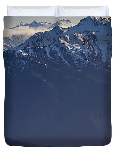 Olympic National Park Duvet Cover