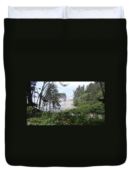 Olympic National Park Beach Duvet Cover