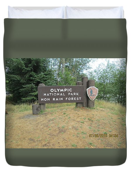 Olympic Park Sign Duvet Cover