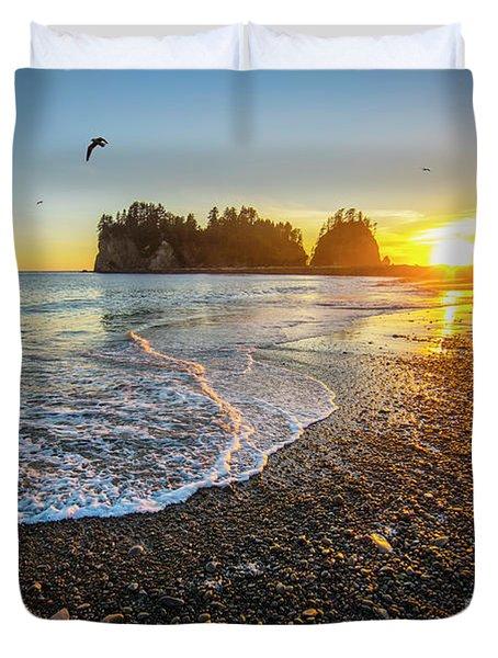 Olympic Peninsula Sunset Duvet Cover