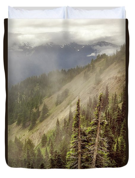 Duvet Cover featuring the photograph Olympic Range From Hurricane Ridge by Peter J Sucy