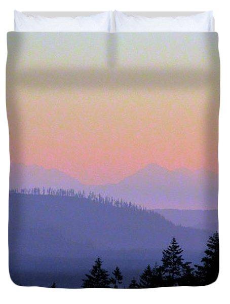 Olympic Silhouette Duvet Cover