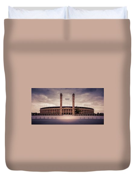 Olympic Stadium Berlin Duvet Cover by Stavros Argyropoulos