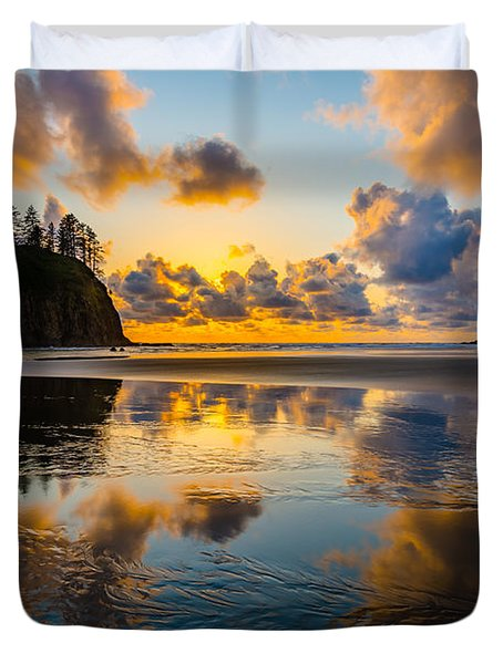 Olympic Sunset Glow Duvet Cover